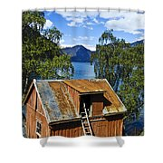 Norwegian Barn House Shower Curtain