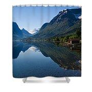 Norwegian Cottages Shower Curtain