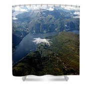 Norwegian Fjord From On High Shower Curtain