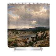 Norwegian Highlands Shower Curtain