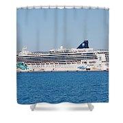 Norwegian Jade Cruise Ship Corfu Shower Curtain