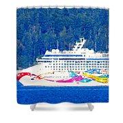 Norwegian Jewel Cruise Ship Shower Curtain