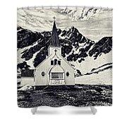 Norwegian Lutheran Church Grytviken Shower Curtain