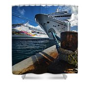 Norwegian Sky Carnival Sensation And Royal Caribbean Majesty Shower Curtain