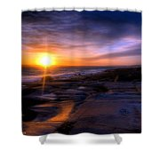 Norwegian Sunset Shower Curtain by Bruce Nutting