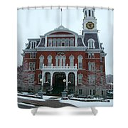 Norwich City Hall In Winter Shower Curtain