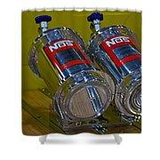 Nos Bottles In A Racing Truck Trunk Shower Curtain