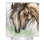 Nose To Nose Watercolor Painting Shower Curtain