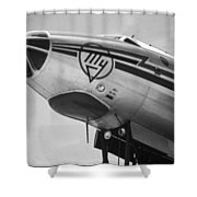 Nose Tu-114 Rossiya Shower Curtain