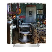 Nostalgia Barber Shop Shower Curtain by Bob Christopher