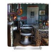 Nostalgia Barber Shop Shower Curtain