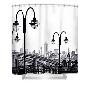 Nostalgia-liberty State Park Shower Curtain