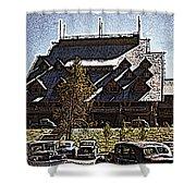 Nostalgia Old Faithful Inn By Cathy Anderson Shower Curtain
