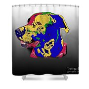 Not A Black Lab Shower Curtain