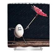 Not Eggs-actly Great Weather Shower Curtain