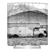 Not In Service Bw Palm Springs Shower Curtain