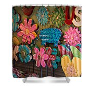 Wimberley Texas Market Lawn Ornaments Shower Curtain