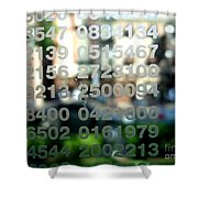 Not Just Numbers Shower Curtain