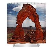 Not The Usual Delicate Arch View Shower Curtain