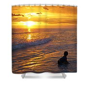 Not Yet - Sunset Art By Sharon Cummings Shower Curtain