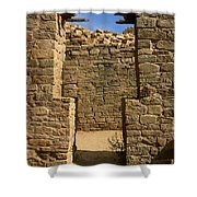 Notched Doorway Shower Curtain