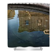 Noto's Sicilian Baroque Architecture Reflected Shower Curtain