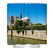 Notre Dame Cathedral And The Seine Shower Curtain