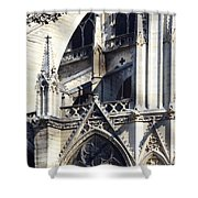 Notre Dame Cathedral Architectural Details Shower Curtain
