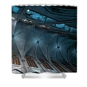 Notre Dame Ceiling North In Teal Shower Curtain