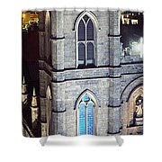 Notre Dame De Montreal At Night Shower Curtain