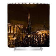 Notre-dame De Paris After Dark Shower Curtain