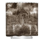 Notre Dame From East Garden Shower Curtain
