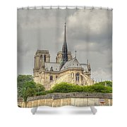 Notre Dame From The Seine Shower Curtain