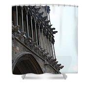Notre Dame Gargoyle Row - Dijon Shower Curtain