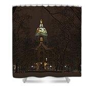 Notre Dame Golden Dome Snow Shower Curtain