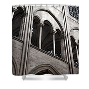 Notre Dame Gothic Arches Shower Curtain