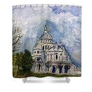 Sacre Coeur In Paris Shower Curtain