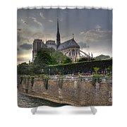 Notre Dame On The Seine Shower Curtain