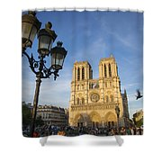 Notre Dame Tourists Shower Curtain