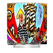 Notre Debut Abstract Shower Curtain