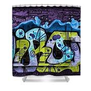 Nouveau Graffiti Shower Curtain