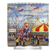 Novelties At The Carnival Shower Curtain