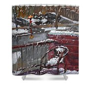 First Snowfall Nov 17 2014 Shower Curtain