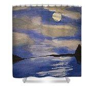 November Moon Shower Curtain