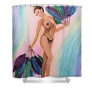 November Peacock Shower Curtain