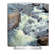 November's Streaming Waters Shower Curtain