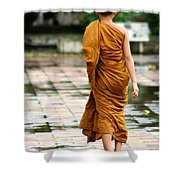 Novice Monk Of Chedi Luang Shower Curtain