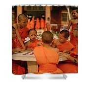 Novice Monks Shower Curtain