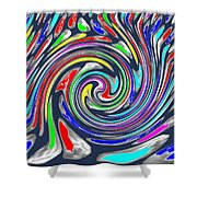 Novino Signature Art Walking Fine Lines Twirl Background Designs  And Color Tones N Color Shades Ava Shower Curtain