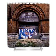 Now Graffiti Shower Curtain